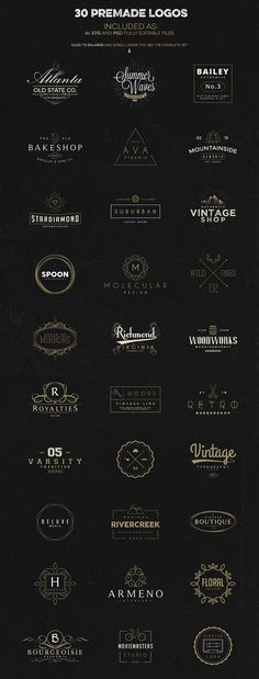 A logo creation kit for download.