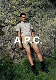 A.P.C. summer 14 campaign. Adrien Sahores shot by Walter Pfeiffer.