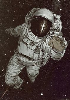 Astronaut art Mais If you are a laser light weekend enthusiast, or perhaps astronomy enthusiast, Astronaut Tattoo, Astronaut Drawing, Art Tumblr, Psy Art, Vincent Van Gogh, Art Journals, Art Drawings, Art Sketches, Space Drawings