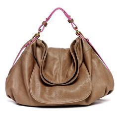 Havana Hobo 2.0, Mushroom - Hayden-Harnett Handbags & Accessories Online Store
