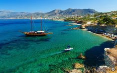 The Greek island of Crete, pictured, which has been named as the most family friendly destination in Europe for a beach holiday, according to new research Europe Beaches, Places In Europe, Europe Destinations, Paris Travel, Us Travel, Station Balnéaire, Beach Holiday, Travel Alone, Travel Abroad