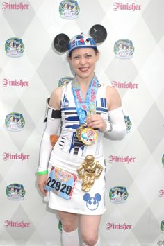 My R2-D2 running costume for the Disneyland 5k and 10k 2013