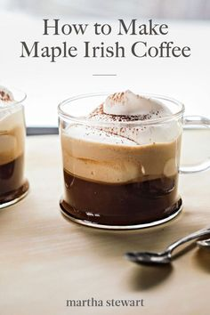 Two twists set this version of the classic warming drink apart -- maple syrup acts as the sweetener, and a touch of cocoa powder brings out the flavor of the coffee. #marthastewart #recipes #recipeideas  #drinkrecipes #drinkideas #fundrinkrecipes