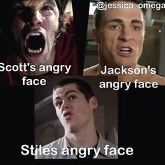 """Stiles' angry face > All angry faces 21 Jokes Only """"Teen Wolf"""" Fans Will Find Funny Stiles Teen Wolf, Teen Wolf Boys, Teen Wolf Dylan, Teen Wolf Cast, Colton Haynes Teen Wolf, Teen Wolf Memes, Teen Wolf Quotes, Teen Wolf Funny, Teen Memes"""