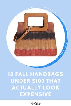 We found 18 stunning fall handbags all under $100 that look far more expensive than their actual price tags. #handbags #inexpensive #affordable Fall Handbags, Mini Handbags, Silk Slip, Dusty Pink, Zebra Print, Girls Best Friend, Black Patent Leather, Purses And Bags, The 100