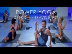 """This Power Yoga """"Detox"""" class is from Travis Eliot's NEW program, Level Up is the most transformative Power Yoga program in the world.this power. Yoga Sequences, Yoga Poses, Fitness Inspiration, Yoga Detox, Lymph Detox, Best Yoga Videos, Become A Yoga Instructor, Partner Yoga, Gentle Yoga"""