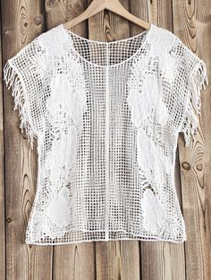 $11.18 See Through Crochet Cover Up