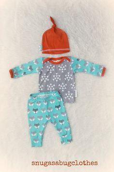 $56 Take Home Outfit Fox Newborn Baby Boy Set by SnugAsaBugClothes