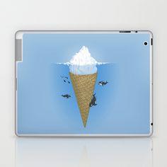 Hidden part of icebergs Laptop & iPad Skin by Naolito - $25.00
