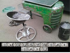 bar table hokey tractor ANTIQUES unique INDUSTRIAL IAHU
