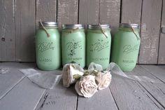 Bocaux Mason vert Decor ferme chalet minable Canning par Swede13