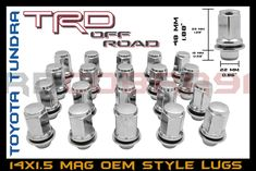 Awesome Great 2007-2018 Toyota Tundra Mag Lug Nuts 14x1.5 Chrome Fits OEM Factory Wheels Only 2018 Check more at http://24auto.tk/toyota/great-2007-2018-toyota-tundra-mag-lug-nuts-14x1-5-chrome-fits-oem-factory-wheels-only-2018/