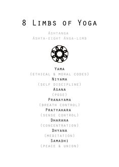 8 Limbs of Yoga Print With a Minimalist Mandala Design Created using the Number . - 8 Limbs of Yoga Print With a Minimalist Mandala Design Created using the Number 8 This is an envir - Iyengar Yoga, Ashtanga Yoga, Vinyasa Yoga, Yin Yoga, Yoga Meditation, Meditation Benefits, Yoga Benefits, Yoga Girls, Partner Yoga