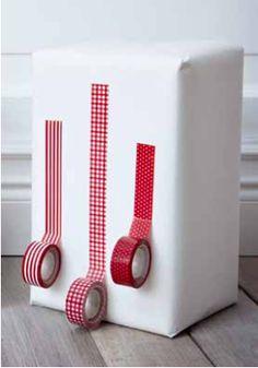 Use tape instead of ribbon. 25-ikea-holiday-decor-tricks-diys-to-take-home