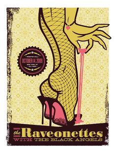 the ravonettes gig posters | GRANDE: Illustration: Gig Posters // The Raveonettes.