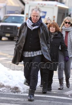 February 10, 2011 -- Alan Rickman and Rima Horton out and about.
