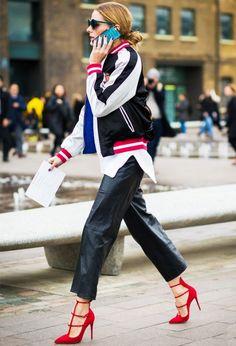 On Olivia Palermo:Topshop jacket.