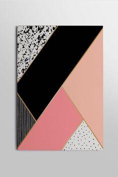 Modern Canvas Art, Diy Canvas Art, Sponge Painting, Diy Painting, Painters Tape Art, Collage Design, Geometric Art, Wall Art, Paintings