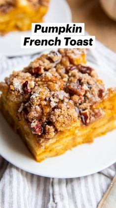 Make Ahead Breakfast, Breakfast Dishes, Breakfast Casserole, Breakfast Recipes, Dessert Recipes, Desserts, Pumpkin Recipes, Fall Recipes, Sweet Recipes