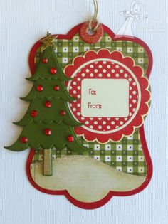A Paper Melody - Christmas tag