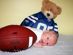 Baby with football