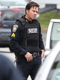 Star Tracks: Wednesday, April 20, 2016   A DAY TO REMEMBER   Actor Mark Wahlberg is in action mode on Tuesday in Boston, Massachusetts, on the set of Patriots Day, a drama about the 2013 Boston marathon bombing.