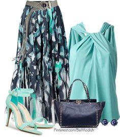 Ocean Blue Tone Outfit