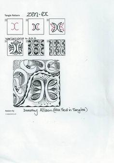 zen-ex steps zentangle