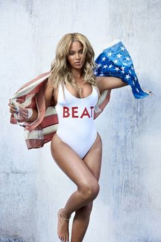 Superstar Beyonce flaunts her famous curves in the winter 2015 cover shoot from Beat Magazine. Photographed by Ryan McGinley, the singer strips down to one-piece swimsuits including a bathing suit with patriotic stars and stripes, and another featuring the magazine's name for the outdoor pictures. In her interview, the megastar talks about which Beyonce she would …