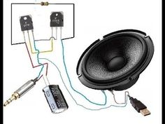 and ultra bass Boosted Electronics Mini Projects, Simple Electronics, Basic Electrical Wiring, Electrical Circuit Diagram, Electronic Circuit Design, Electronic Engineering, Diy Speakers, Wireless Speakers, Custom Car Audio