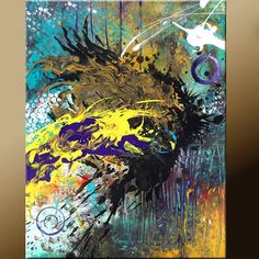 Original ABSTRACT Modern Contemporary Fine Art Paintings by Destiny Womack - dWo - 16x20 - Trials VIII