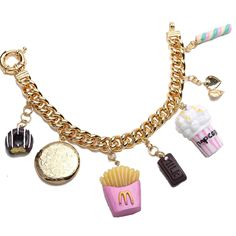 A personal favorite from my Etsy shop https://www.etsy.com/listing/449584804/chunky-sweet-treats-charm-bracelet