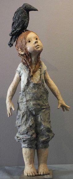Galerie Maznel. Jurga sculpteur. Bronze Sculptures Céramiques, Art Sculpture, Pottery Sculpture, Ceramic Pottery, Ceramic Art, Ceramic Sculpture Figurative, 3d Figures, Ceramic Figures, Paperclay