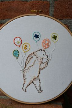 Most Excellent Party Bear pattern by Nicole Vos van Avezathe/Follow the White Bunny