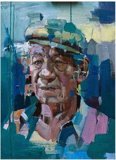 Christian Hook, portrait of Ian McKellan Portrait artist of the year