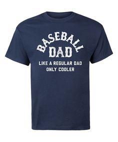 Navy 'Baseball Dad' Tee - Men's Regular