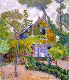 Pierre Bonnard, House among Trees on ArtStack #pierre-bonnard #art
