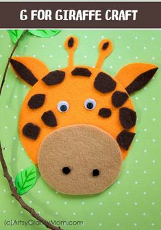mammals activities for kids crafts Make this adorable G for Giraffe Craft using our Printable Template thats perfect for learning about Africa, mammals, letter G and the ZOO! Easy Preschool Crafts, Zoo Crafts, Kindergarten Crafts, Camping Crafts, Preschool Art, Toddler Crafts, Kids Crafts, Preschool Alphabet, Letter G Activities