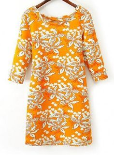 AUTUMN NEW FASHION LADIES' ROUND NECK CROSS HALTER YELLOW LILY FLOWER PRINT DRESS ST2509