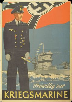 """Freiwillig zur Kriegsmarine""propaganda poster"
