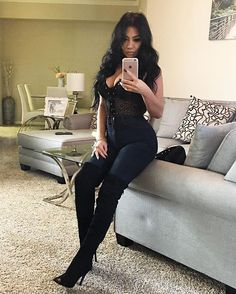 """Top: @yandy  Jeans: @americaneagle  Boots: @lolashoetique code """"Evettexo"""" for a discount."""