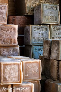 Savon de Marseille by Fabio Zerbino (not my soap, but I wish it was!). This is soap made the traditional French way.