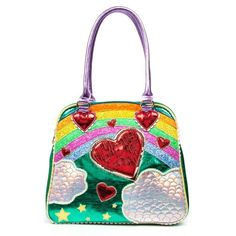 Do you love Irregular Choice shoes, tights, bags, purses and more? Shop Irregular Choice at Daisy Mae Boutique Embellished Purses, Daisy, Glitter Purse, Rainbow Bag, Custom Purses, Irregular Choice Shoes, Novelty Bags, Bags Online Shopping, Beautiful Handbags
