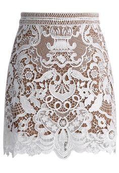 Baroque Crochet Lace Bud Skirt