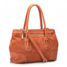 Nucelle Royal Dream Leather Handbag - Orange $70.00