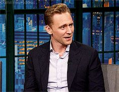 damnyouhiddles:  Tom on Late Night with Seth Meyers April 13th 2016.