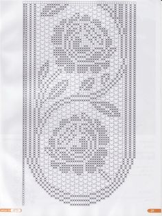 Filet crochet.. Table runner chart..