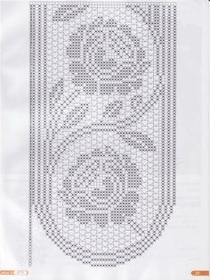 Filet crochet.. Table runner chart..