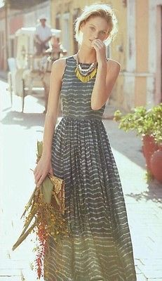 Nwt Anthropologie Shibori Maxi Dress By Neuw. Elegant! Great look for all day long. Just a gorgeous maxi dress.