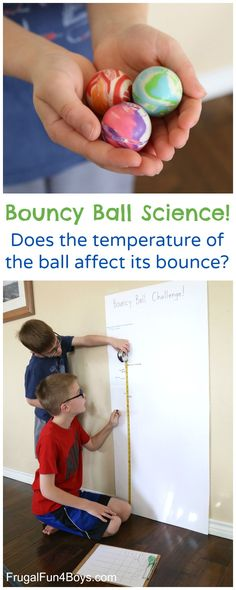Here's a fun science experiment that kids can carry out on their own.  Does the temperature of a bouncy ball affect its bounce? Will a cold ball bounce higher or lower than one at room temperature?  What about a hot bouncy ball?  This was so fun to explore!  We had a good guess of what …